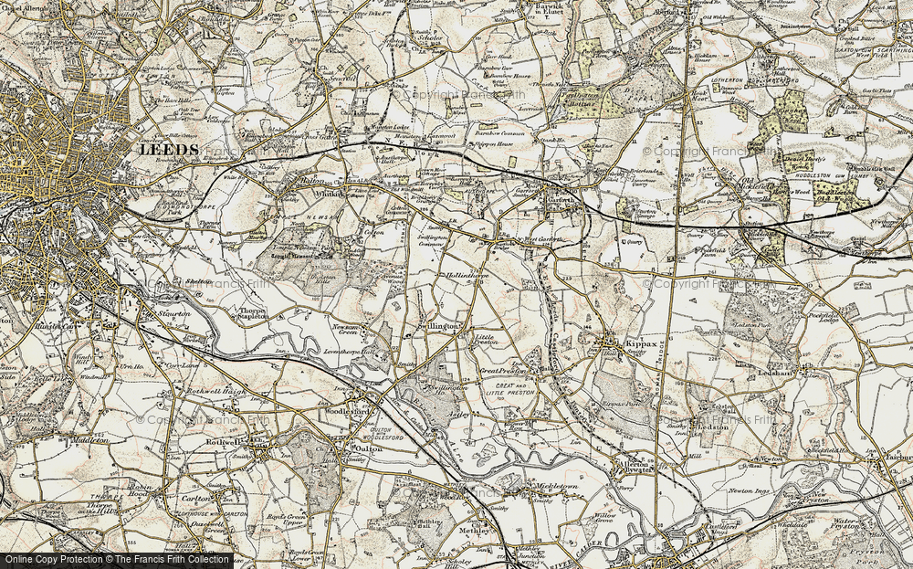 Old Map of Historic Map covering Avenue Wood in 1903