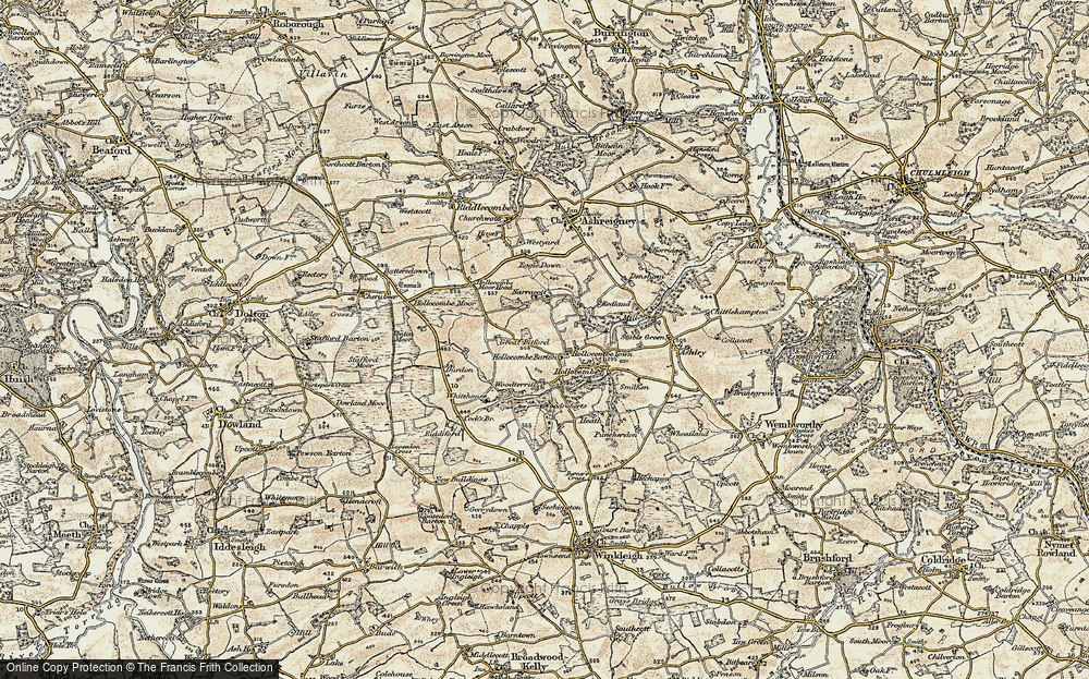 Old Map of Historic Map covering Woodroberts in 1899-1900