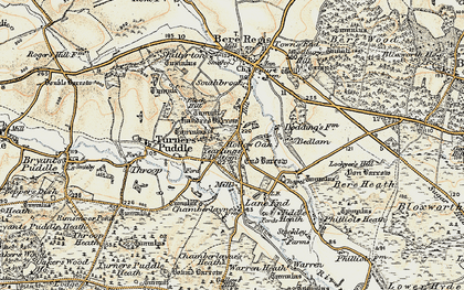 Old map of Yearlings Bottom in 1899-1909