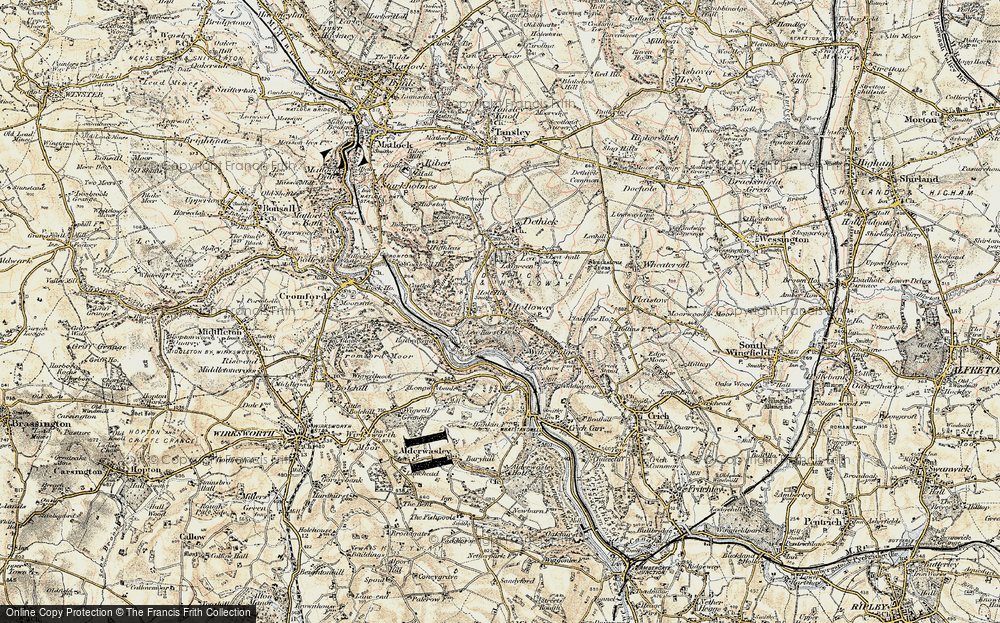 Old Map of Historic Map covering Lea Bridge in 1902-1903