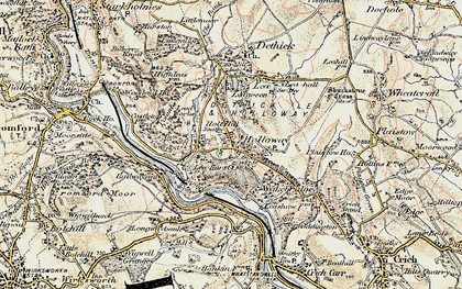 Old map of Holloway in 1902-1903
