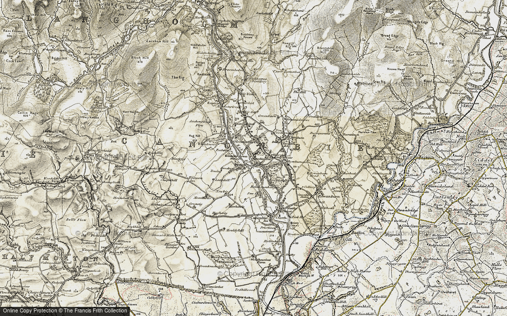 Old Map of Historic Map covering Auchenrivock Flow in 1901-1904