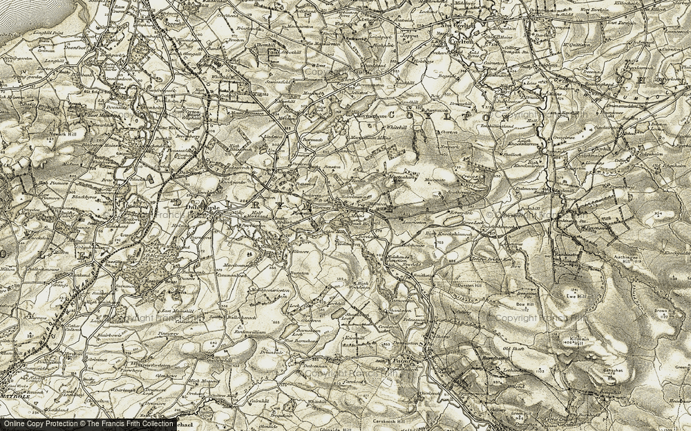 Old Map of Historic Map covering Laurieston in 1904-1906