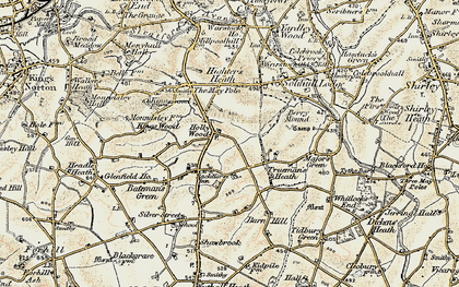 Old map of Hollywood in 1901-1902