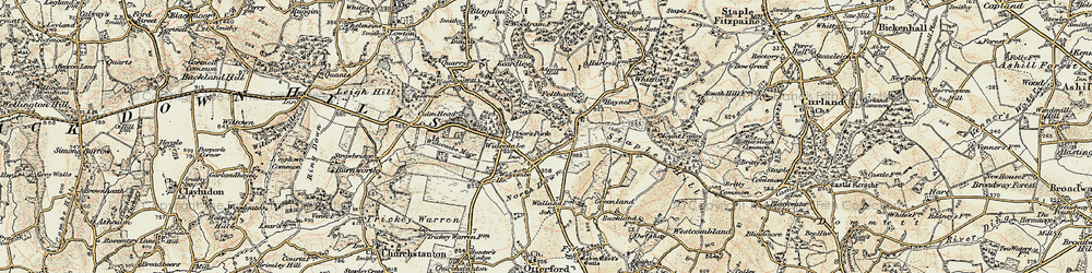 Old map of Westcombe in 1898-1900