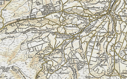 Old map of Holmbridge in 1903