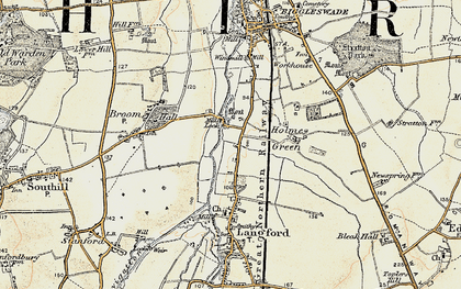 Old map of Holme in 1898-1901