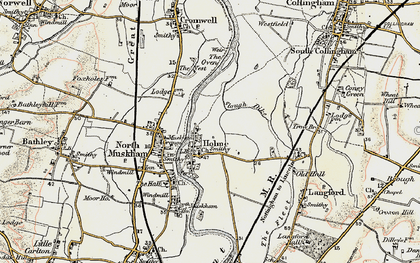 Old map of Holme in 1902-1903