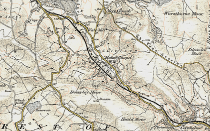 Old map of Limestone Trail in 1903