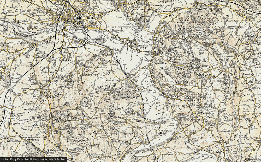 Old Map of Holme Lacy, 1899-1901 in 1899-1901