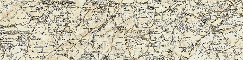 Old map of Woonton Ash in 1900-1903