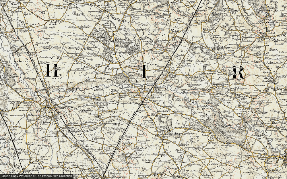 Old Map of Holmes Chapel, 1902-1903 in 1902-1903