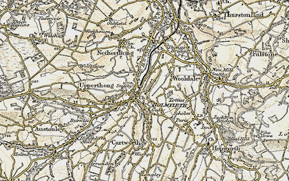 Old map of Holmfirth in 1903