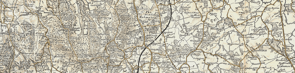 Old map of Anstie Grange in 1898-1909