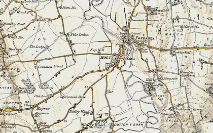 Old map of Holt in 1902