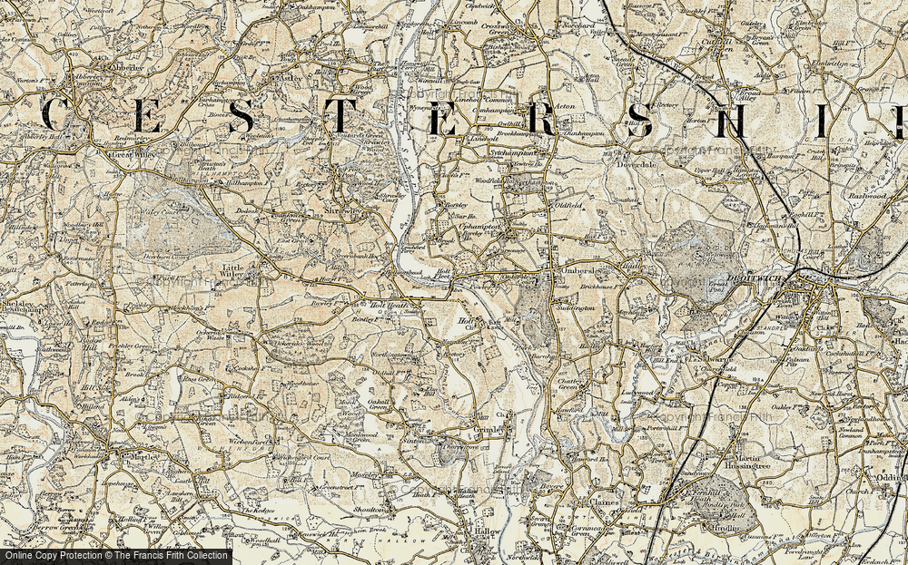 Old Map of Holt Fleet, 1899-1902 in 1899-1902