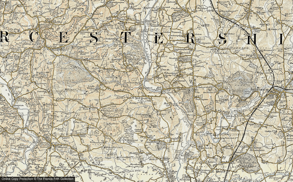 Old Map of Holt Heath, 1899-1902 in 1899-1902