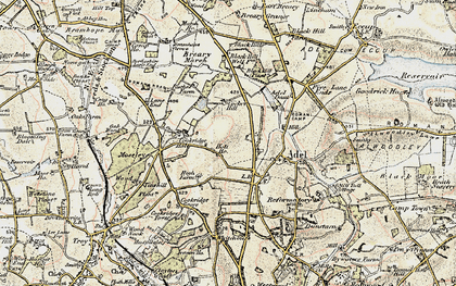 Old map of Adel Dam in 1903-1904