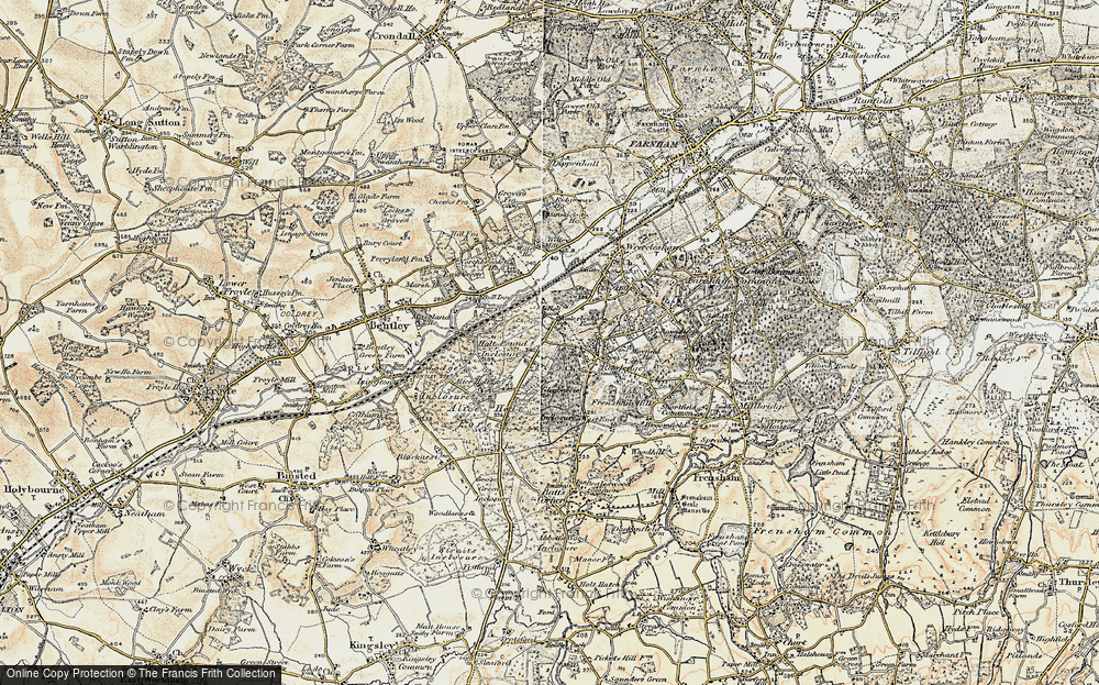 Old Map of Holt Pound, 1897-1909 in 1897-1909