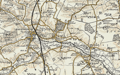 Old map of Holton in 1901-1902
