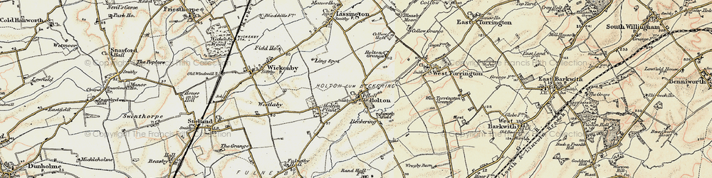 Old map of Wickenby Aerodrome in 1902-1903