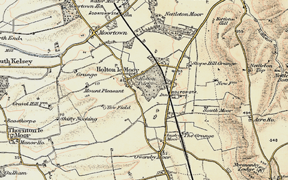 Old map of Yewfield in 1903-1908