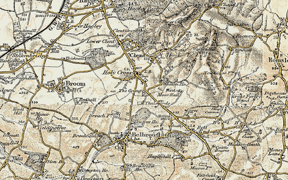 Old map of Yew Tree Ho in 1901-1902
