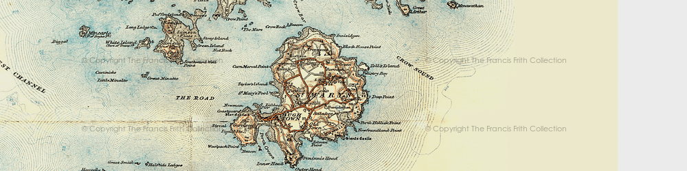 Old map of Toll's Island in 0