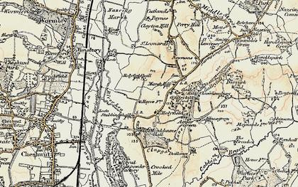 Old map of Langridge in 1897-1898
