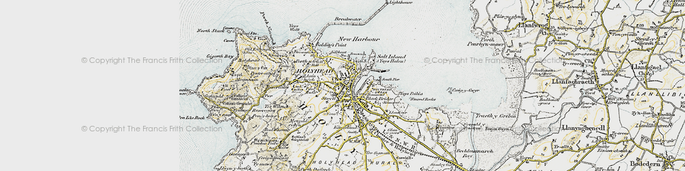 Old map of Holyhead in 1903-1910