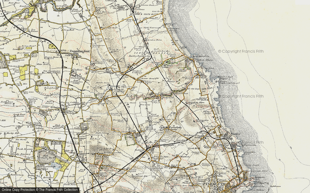 Old Map of Historic Map covering Bank Top in 1901-1903
