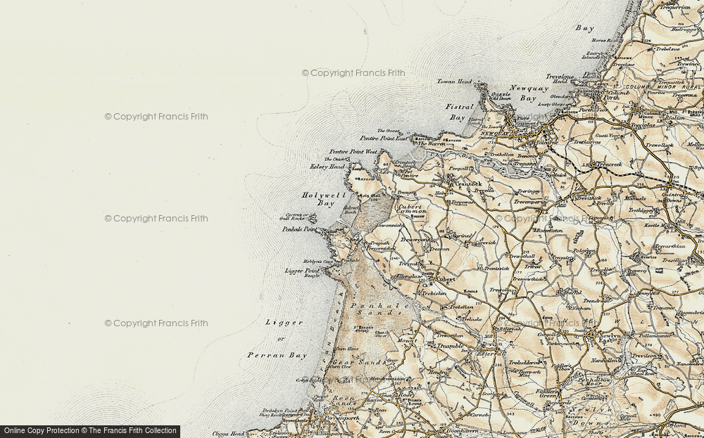 Old Map of Historic Map covering Lewannick in 1900