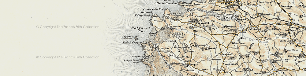 Old map of Lewannick in 1900