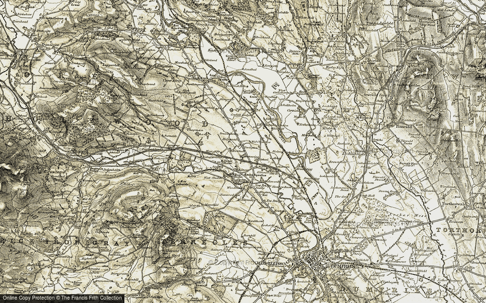 Old Map of Historic Map covering Abbey in 1901-1905