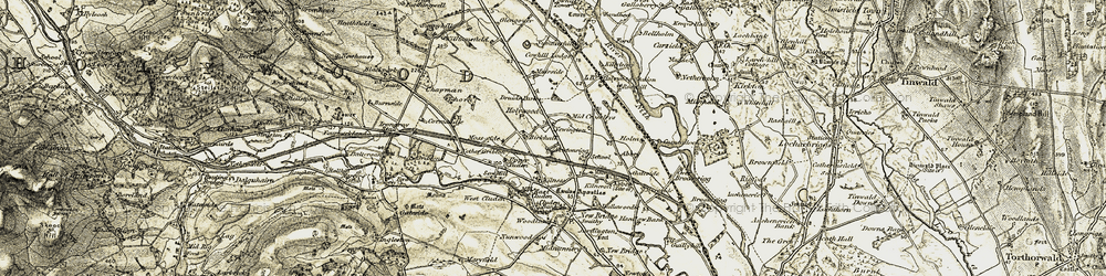 Old map of Abbey in 1901-1905