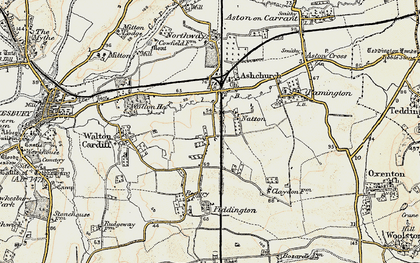 Old map of Tirle Brook in 1899-1900