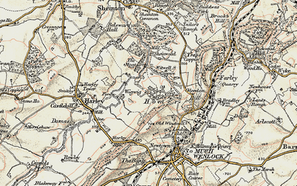 Old map of Wigwig in 1902