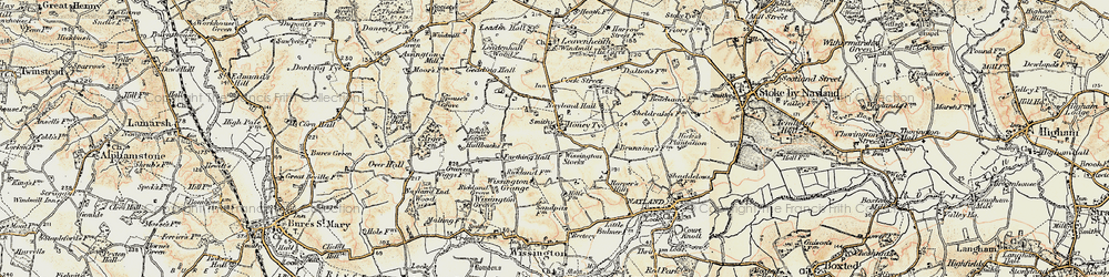 Old map of Wissington Grange in 1898-1901