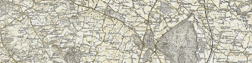 Old map of Winterbottom in 1902-1903