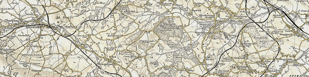 Old map of Hood Green in 1903
