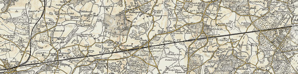 Old map of Hook in 1897-1909