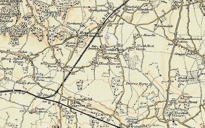 Old map of Hook Green in 1897-1898