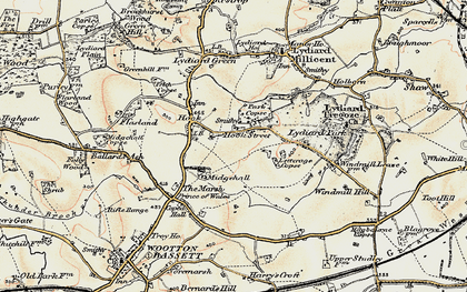 Old map of Letterage Copse in 1898-1899