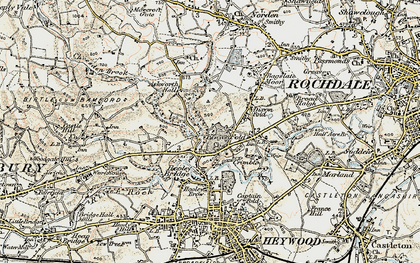 Old map of Bamford Hall in 1903
