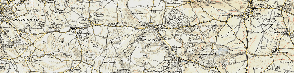 Old map of Wood Lee in 1903