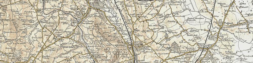 Old map of Tir-y-fron in 1902-1903