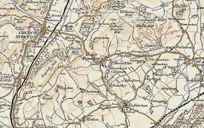 Old map of Woodgate Cott in 1902-1903