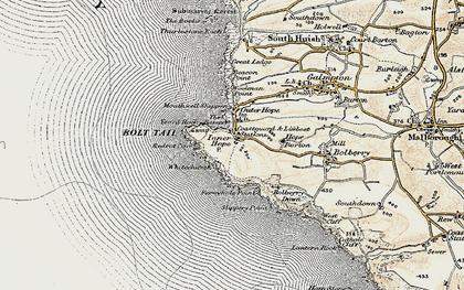 Old map of Yeovil Rock in 1899-1900