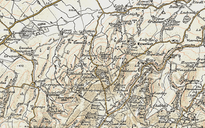 Old map of Whitsburn Hill in 1902-1903
