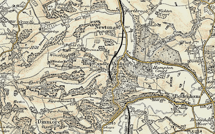 Old map of Woodmanton in 1900-1901